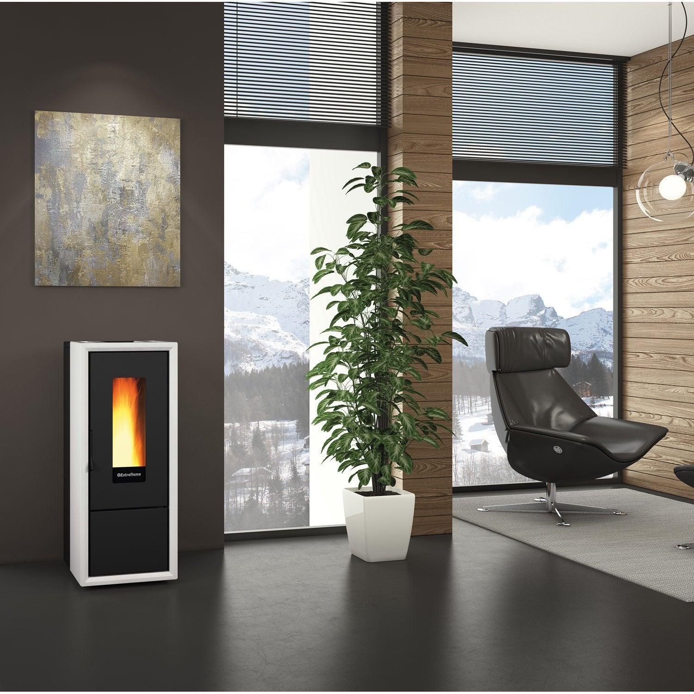 po le granul s extraflame ella blanc 8 kw leroy merlin. Black Bedroom Furniture Sets. Home Design Ideas