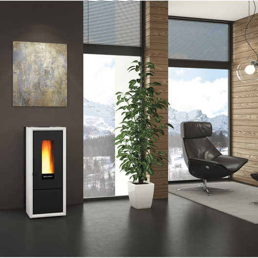 po le granul s extraflame ella blanc 8 kw leroy merlin. Black Bedroom Furniture Sets. Home Design Ideas