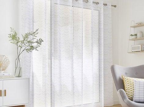 maison du monde voilage good rideaux voilages maisons du. Black Bedroom Furniture Sets. Home Design Ideas