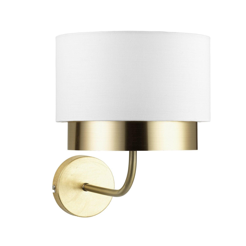 Applique métal laiton / blanc MATHIAS Dana 1 lumière(s)