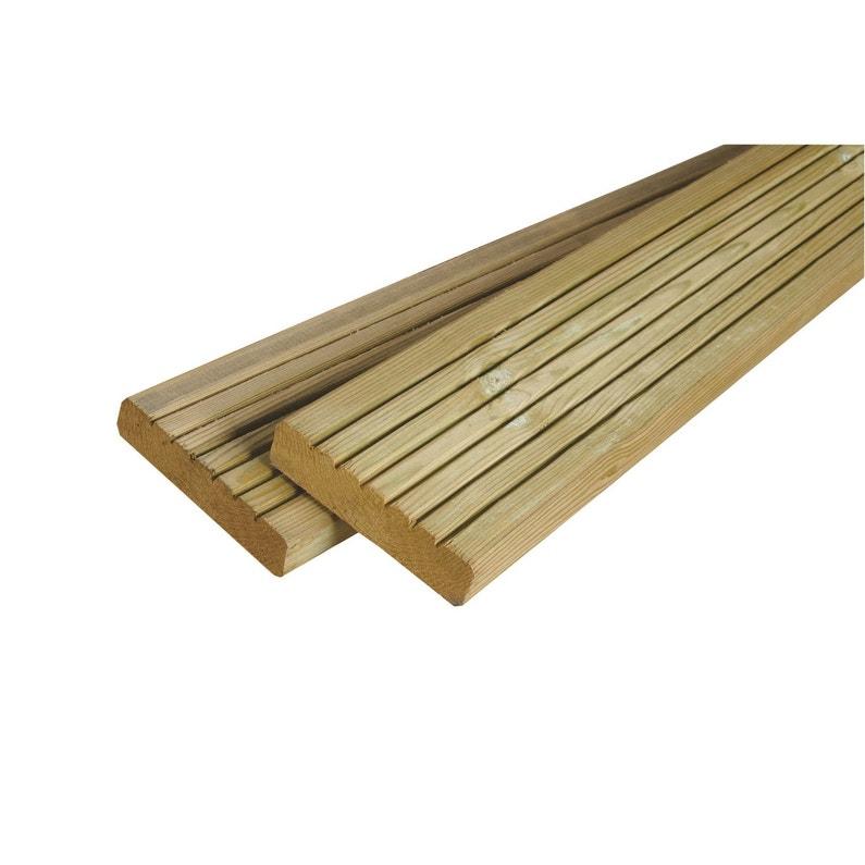 Planche Bois Pin Vert L300 X L14 Cm X Ep28 Mm