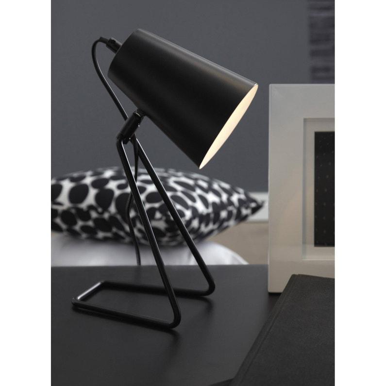 Lampe E14 Moeta Inspire Métal Noir 40 W