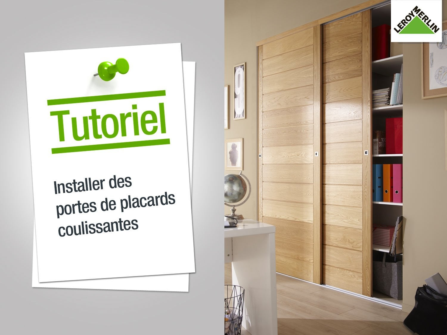 Comment Installer Des Portes De Placards Coulissantes Leroy Merlin - Installer portes placard coulissantes