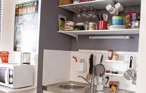 comment amnager une petite cuisine en longueur amnagement. Black Bedroom Furniture Sets. Home Design Ideas