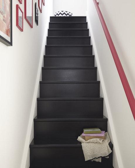 Escalier et rampe valorise l'entrée