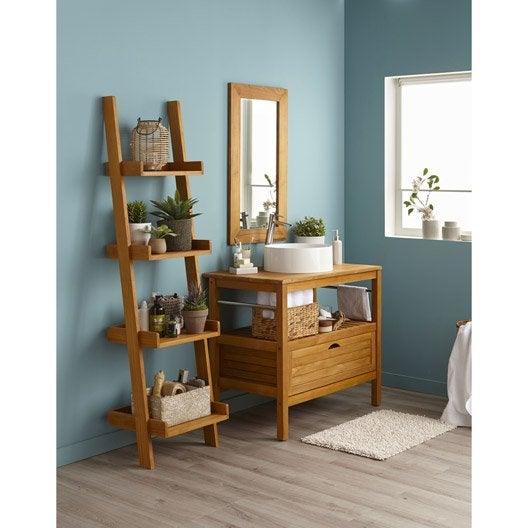 Meuble de salle de bains de 80 99 brun marron surabaya iv leroy merlin - Meuble salle de bain marron ...