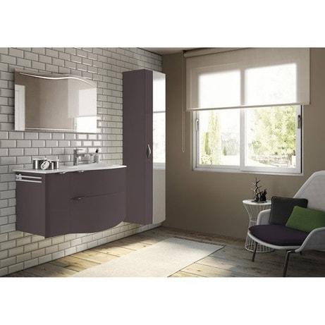 Meuble de salle de bains plus de 120, brun / marron, Elegance