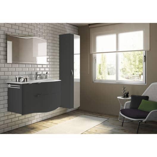 meuble de salle de bains plus de 120 noir elegance