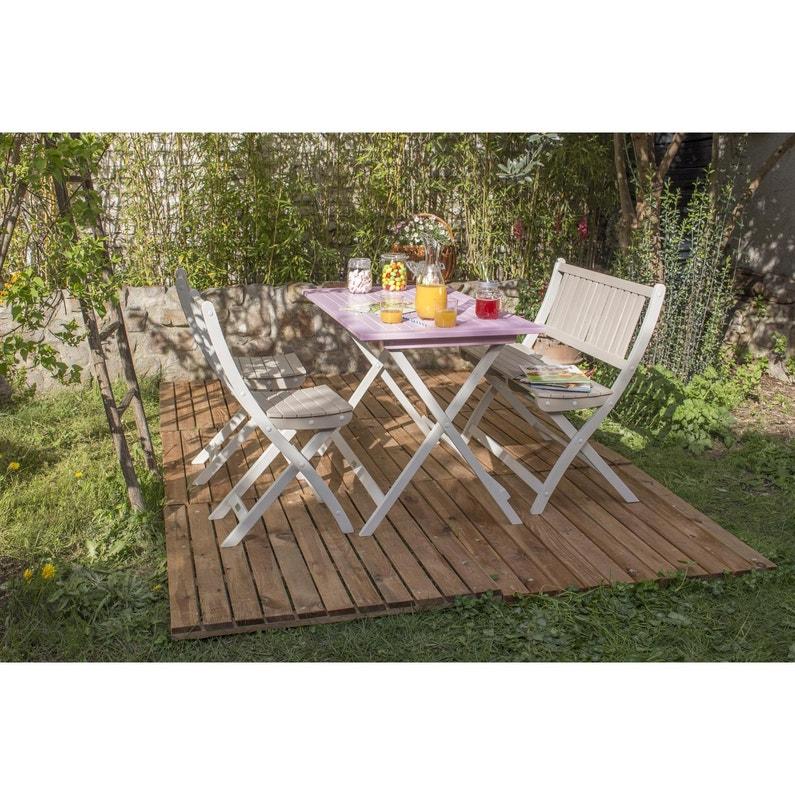 Table de jardin CITY GREEN Burano rectangulaire rose 4 personnes