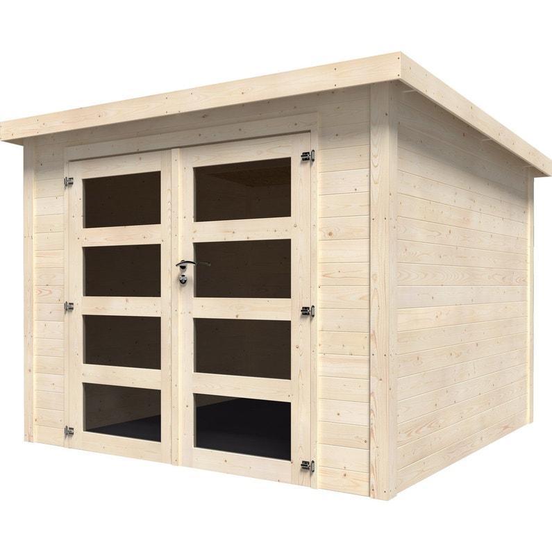 info pour e9e15 dee84 Abri de jardin bois NATERIAL Kuta axess Ep.28 mm, 5.96 m²