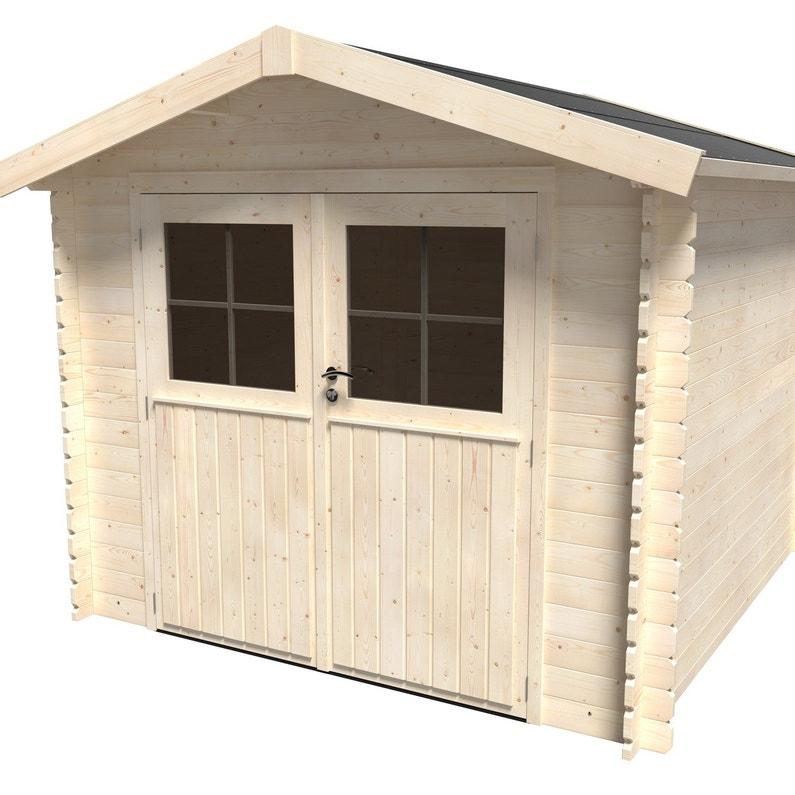 acheter pas cher ff918 8a279 Abri de jardin bois NATERIAL Kabeo évolution Ep.28 mm, 5.90 m²