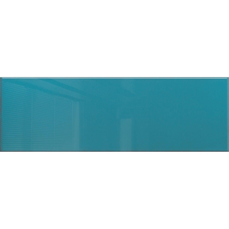 Faïence mur indigo brillant l.25 x L.76 cm, Haussmann