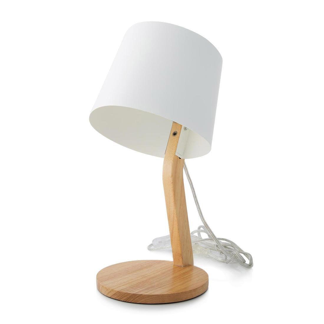 Lampe, design, bois blanc et bois Woody