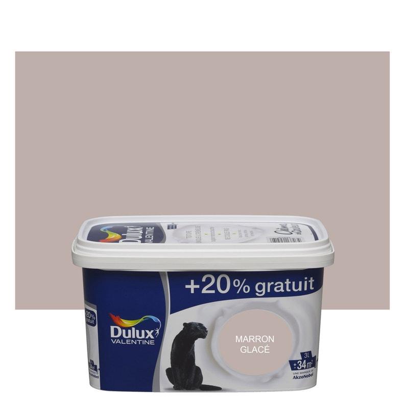 Peinture marron glacé satin DULUX VALENTINE Crème de couleur 3 l ...