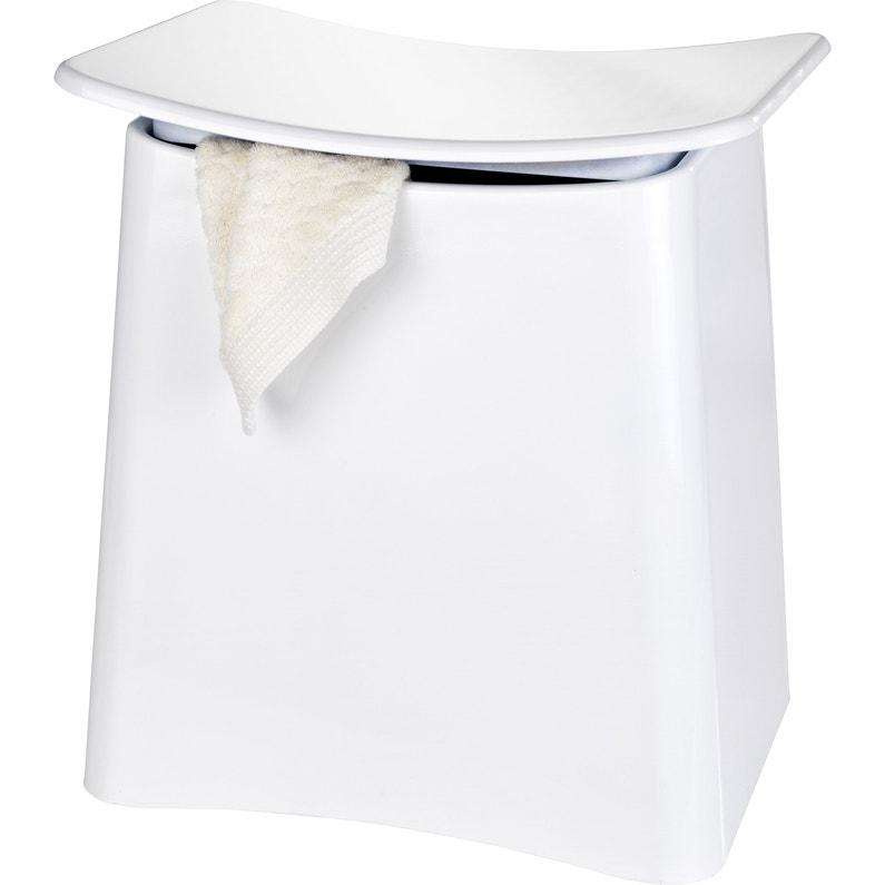 Tabouret salle de bain Wing blanc WENKO