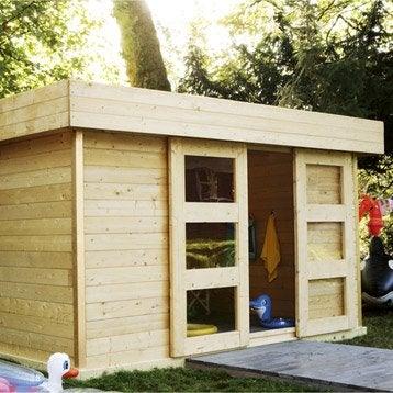 Abri de jardin bois Stockholm 2, 11.36 m² Ep.28 mm