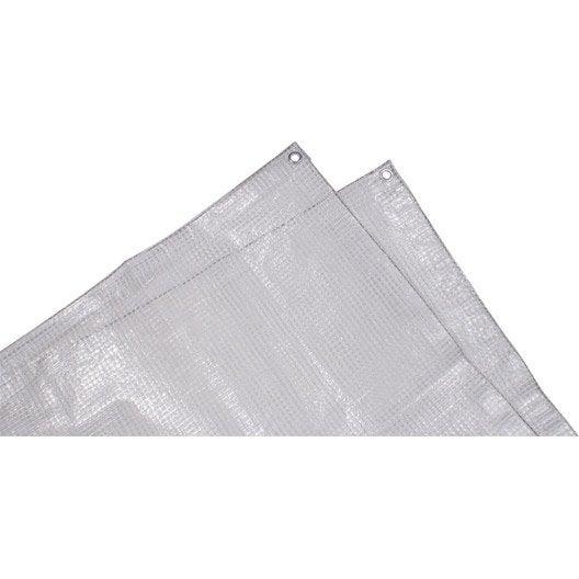 Bâche de protection en pe rectangulaire 200 x 300 cm transparent