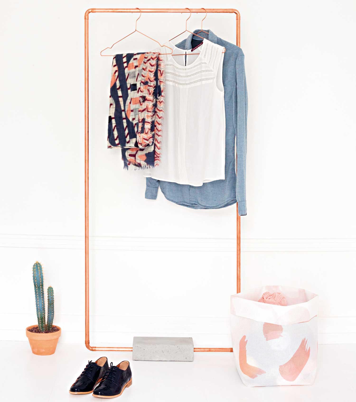 DIY Réaliser Un Portant Pour Les Vêtements Leroy Merlin - Portant en bois