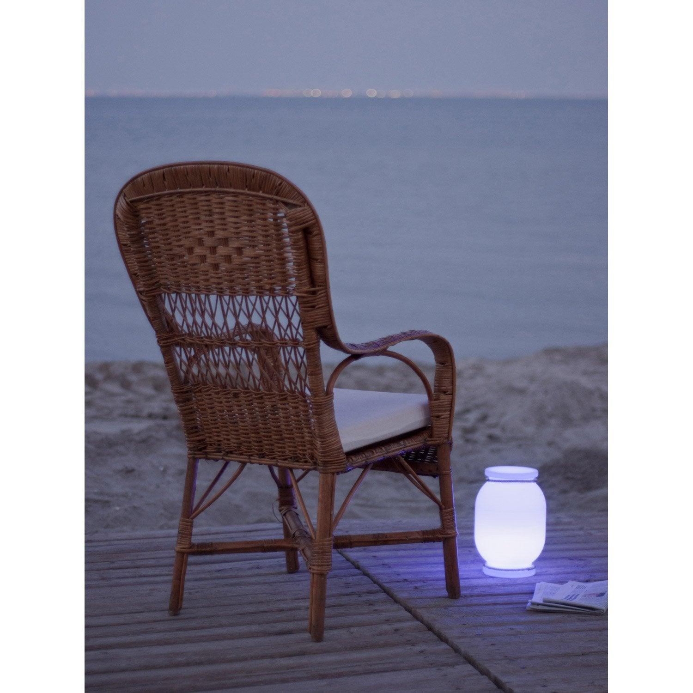 Lampe de jardin ext rieure candela led int gr e blanc newgarden leroy merlin - Lampe de jardin led ...