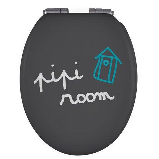 abattant frein de chute d clipsable multicolore bois compress cabane leroy merlin. Black Bedroom Furniture Sets. Home Design Ideas