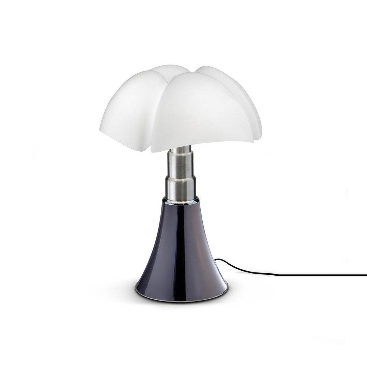 Lampe design Mini Pipistrello touch titane, ampoule LED integrée, H.35cm