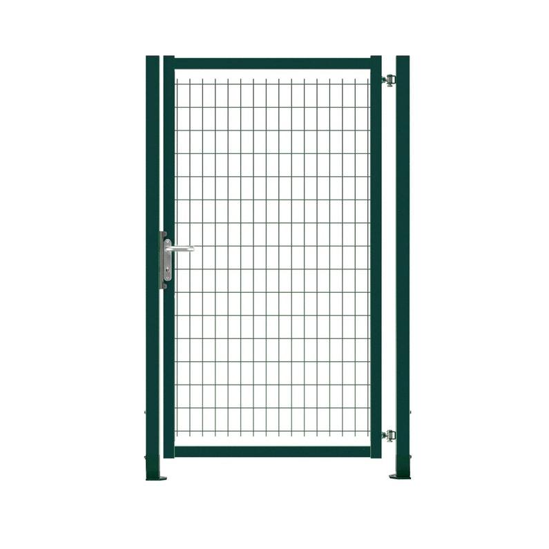 Portillon grillagé Axor, l.100 x H.170 cm, vert
