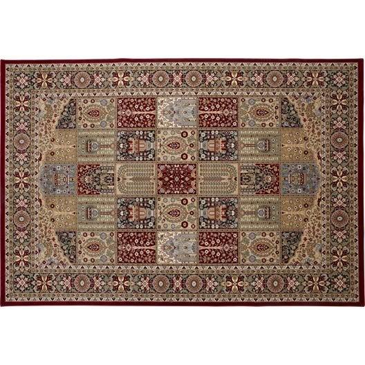 tapis rouge kashmir x cm leroy merlin. Black Bedroom Furniture Sets. Home Design Ideas