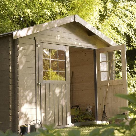 Abri de jardin bois Flore, 5.39 m² Ep.28 mm | Leroy Merlin
