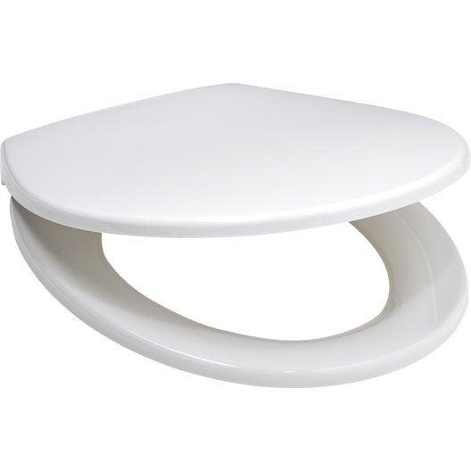 abattant frein de chute d clipsable blanc polypropyl ne declips leroy merlin. Black Bedroom Furniture Sets. Home Design Ideas