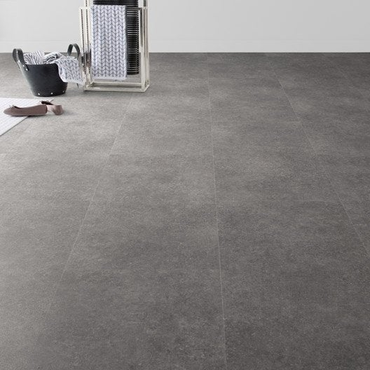 Dalle pvc clipsable gris m tal effet b ton clic moods for Carrelage clipsable avis