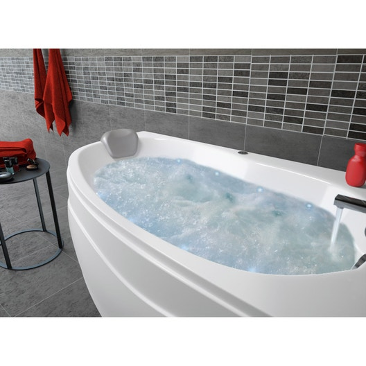 baignoire baln o avec tablier asym trique cm allibert chromomix leroy merlin. Black Bedroom Furniture Sets. Home Design Ideas