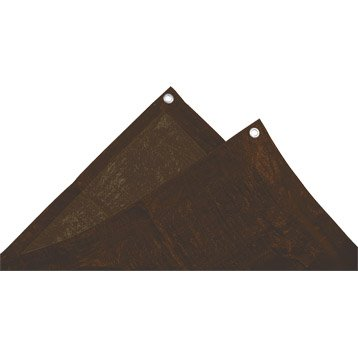 Bâche de protection en pe rectangulaire 200 x 800 cm marron