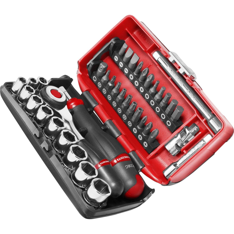 coffret d 39 outils de serrage vissage 38 pi ces facom leroy merlin. Black Bedroom Furniture Sets. Home Design Ideas