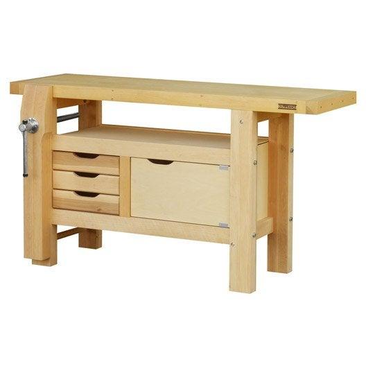 etabli en bois outifrance 1m50 avec 1 porte leroy merlin. Black Bedroom Furniture Sets. Home Design Ideas