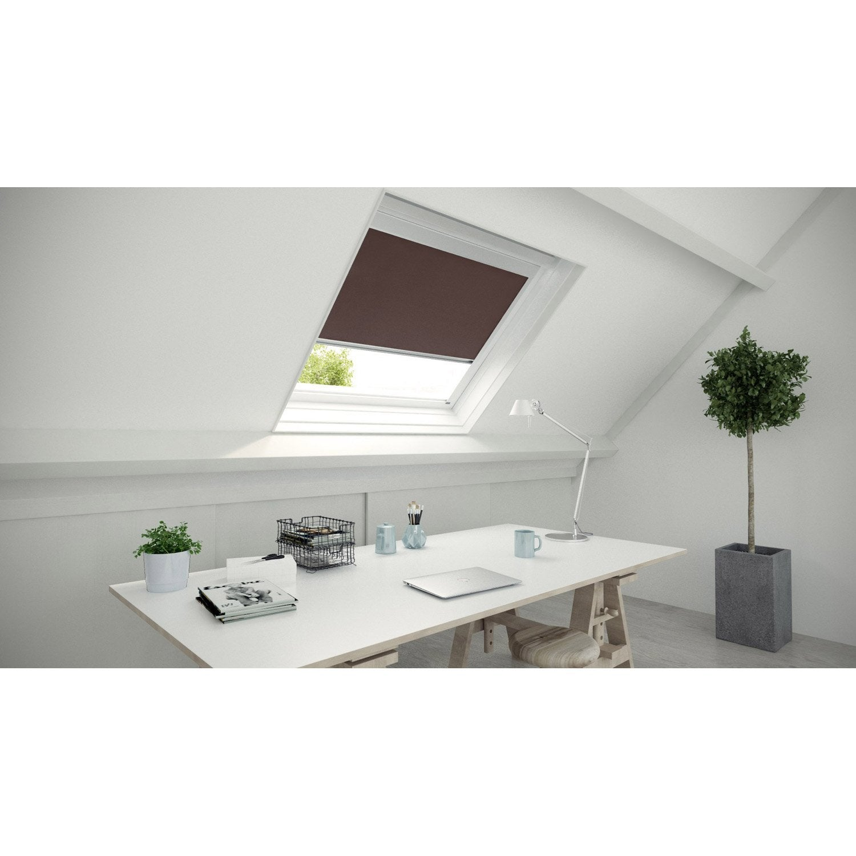store fen tre de toit occultant brun chocolat n 1 brun chocolat n 1 inspire leroy merlin. Black Bedroom Furniture Sets. Home Design Ideas