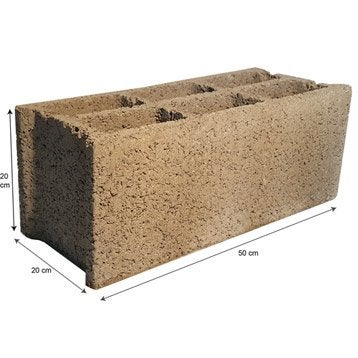 parpaing brique parpaing creux bloc bancher bloc b ton leroy merlin. Black Bedroom Furniture Sets. Home Design Ideas