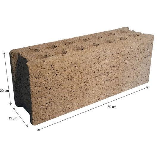 parpaing plein all g 15x20x50 cm leroy merlin. Black Bedroom Furniture Sets. Home Design Ideas