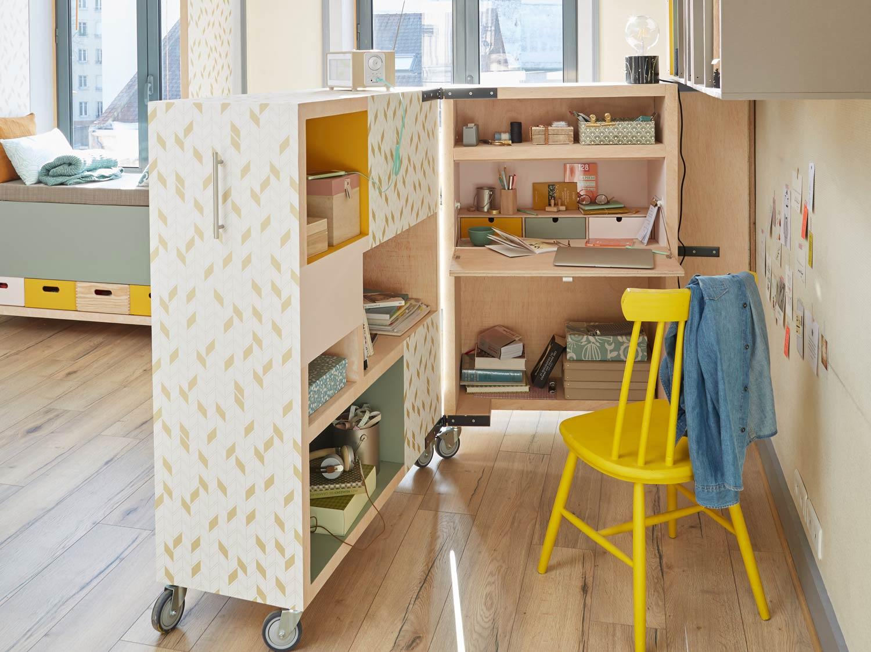 Transformer une bibliothèque en un bureau mobile