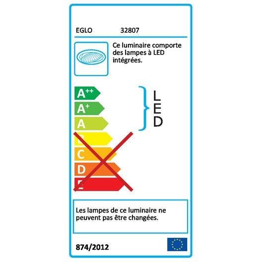 Kit 10 spots à encastrer Peneco fixe led EGLO LED intégrée blanc
