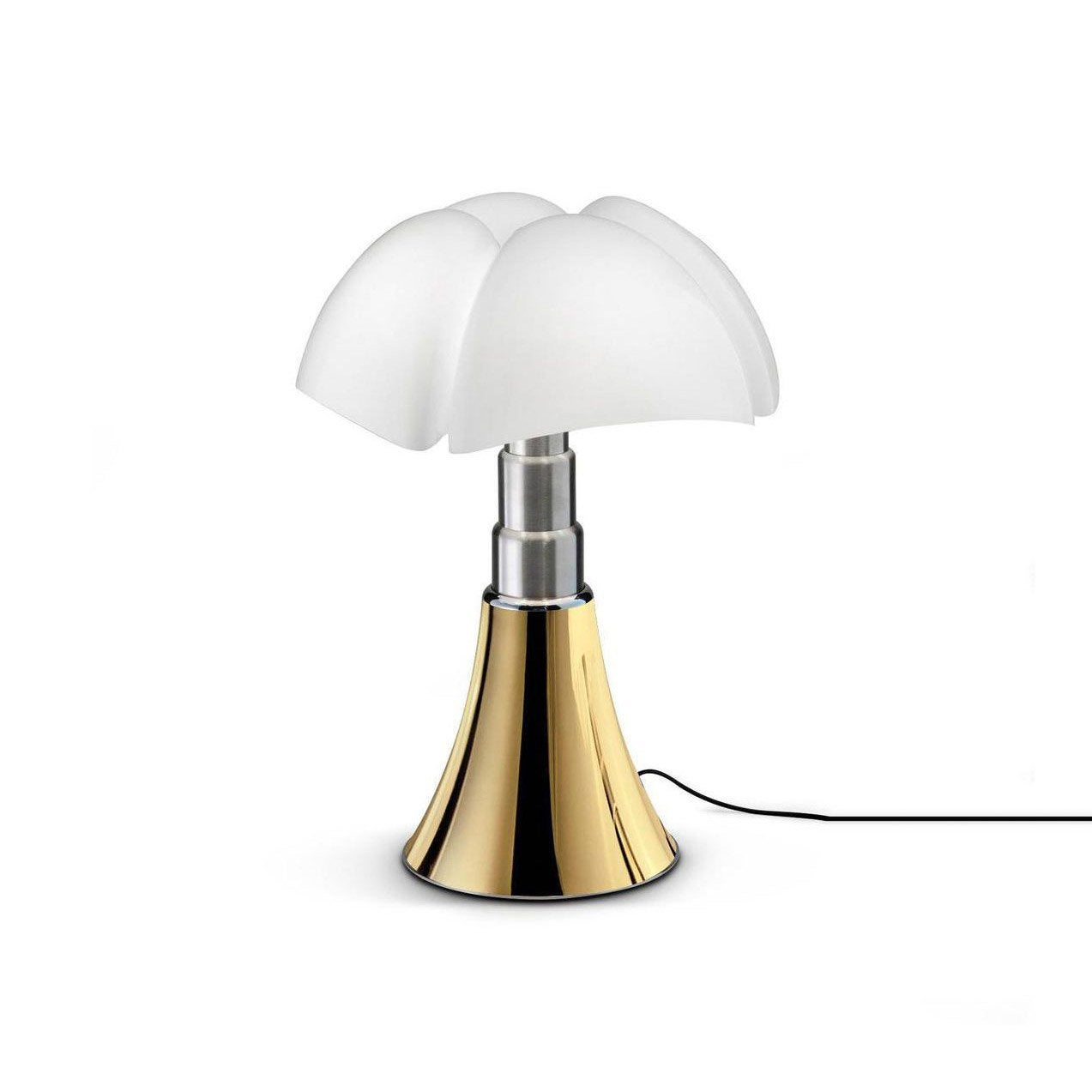 Lampe design Mini Pipistrello touch doré, ampoule LED integrée, H.35cm