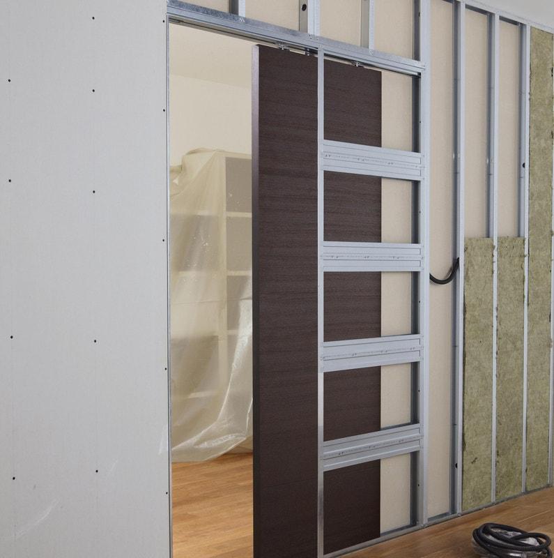 Système Galandage En Kit Pour Porte Coulissante Artens 3 L73 Cm