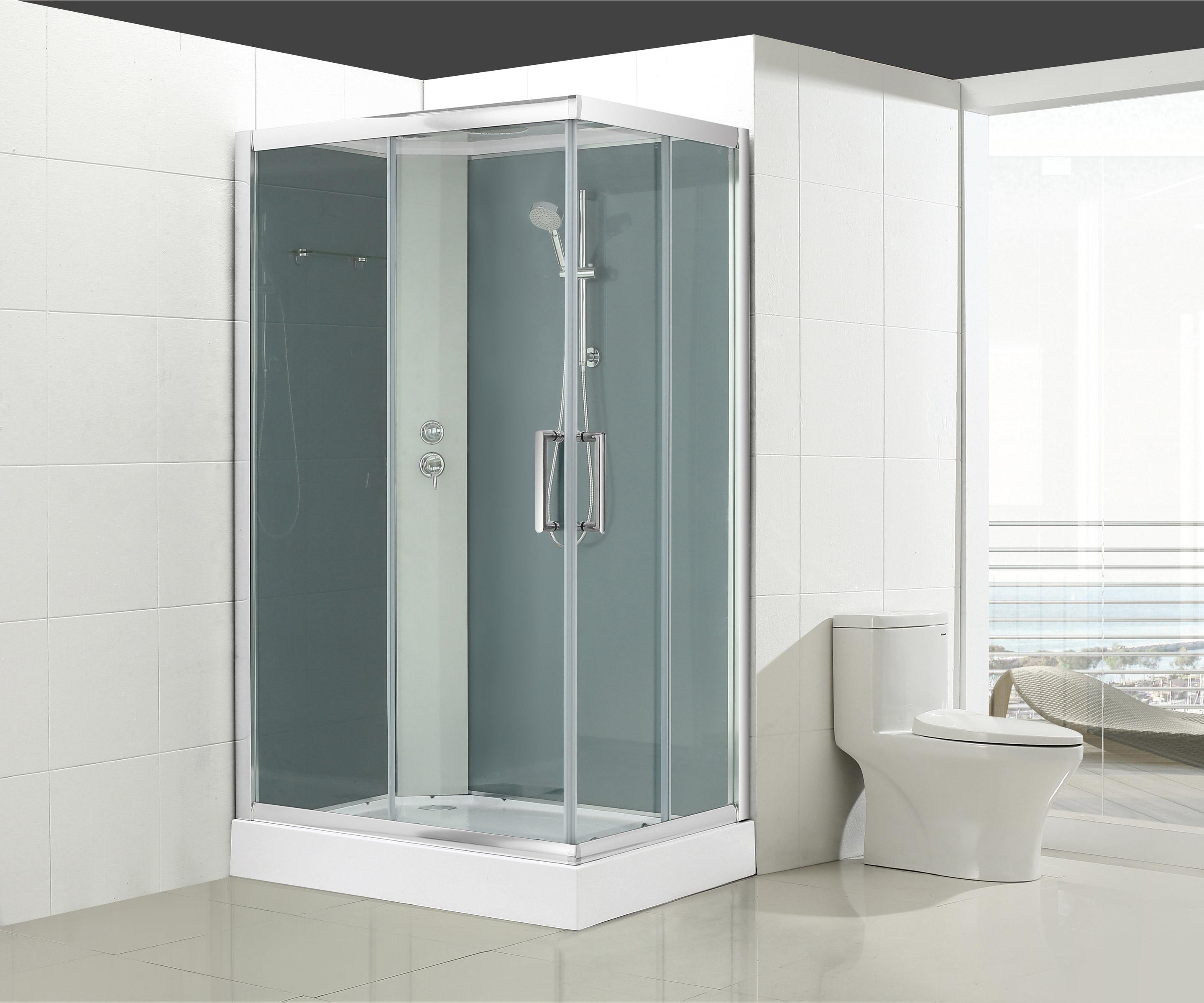 cabine de douche l120 x l90 cm verre transparent quad