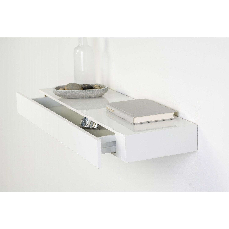 Etag re tiroir blanc x cm mm leroy merlin - Plan de travail cuisine profondeur 80 cm ...