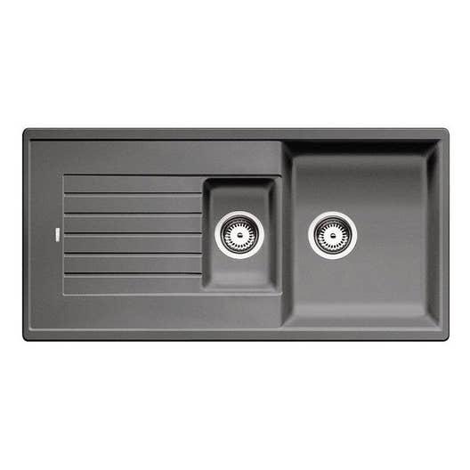 evier encastrer granit et r sine gris m tallis zia 1 5. Black Bedroom Furniture Sets. Home Design Ideas