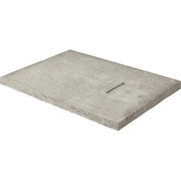 Couvercle béton gris LEGOUEZ, L.74 x l.54 cm