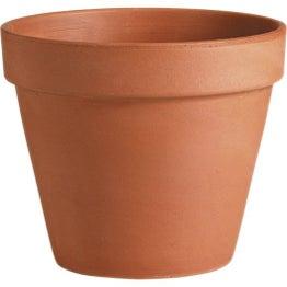 Pot terre cuite DEROMA Diam.19 x H.17.3 cm terre cuite rouge