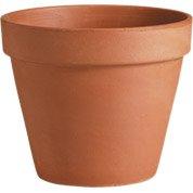 Pot terre cuite DEROMA Diam.29 x H.25.5 cm terre cuite rouge