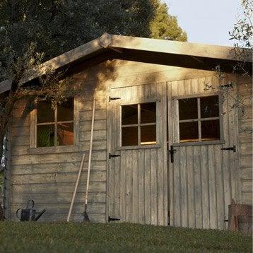 Abri de jardin bois Ermitage, 11.07 m² Ep.28 mm