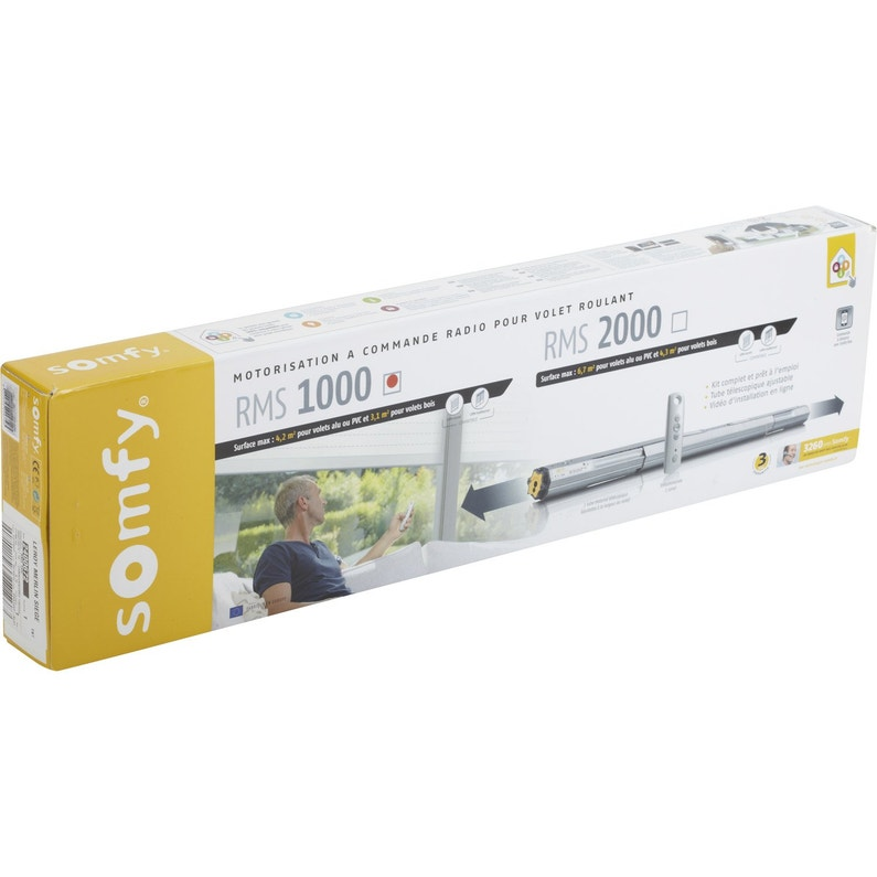 Motorisation De Volets Somfy Roulants Connectés Sans Fil Rms 1000 10 Nm Diam6
