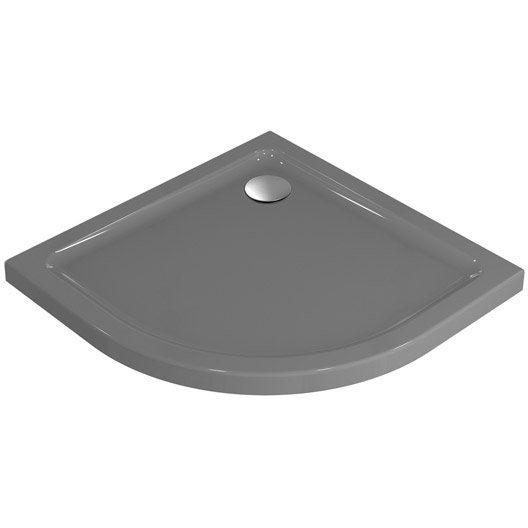 receveur de douche 1 4 de cercle x cm gr s. Black Bedroom Furniture Sets. Home Design Ideas